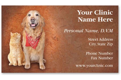 Business Card with Appointment Back-Bandanna Buddies