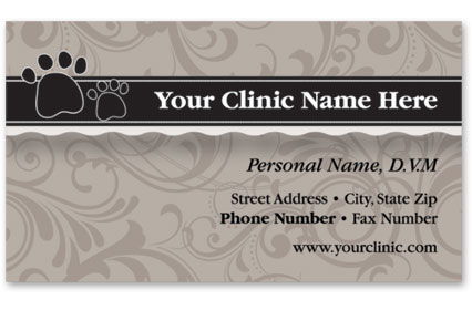 Veterinary Business Cards w/ Appointment - Shades of Grey