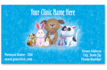 Business Card with Appointment Back-Critter Print