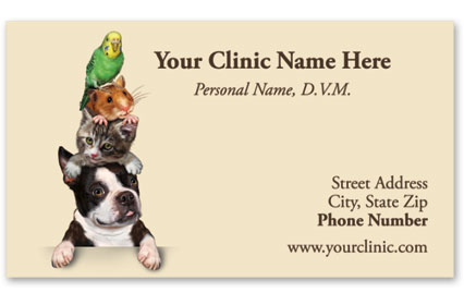 Veterinary Business Cards w/ Appointment - Pet Stack
