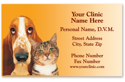Veterinary Business Cards w/ Appointment - Two Friends Revised