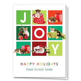 Holiday Card-Modern Squares