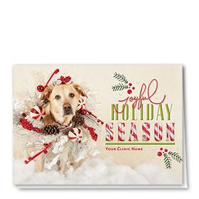 Holiday Card-Christmas Garland