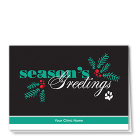 Veterinary Holiday Cards - Modern Greeting