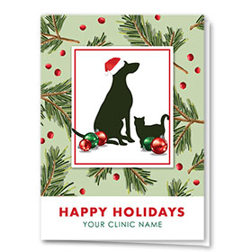 Veterinary Holiday Cards - Christmas Pines