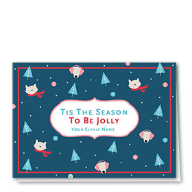 Veterinary Holiday Cards - Whimsical Pattern