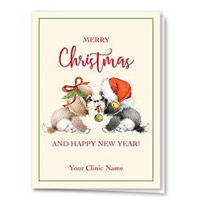 Veterinary Holiday Cards - Sweet Puppies