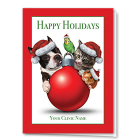 Veterinary holiday cards holiday greeting cards for animal clinics veterinary holiday cards big and small m4hsunfo