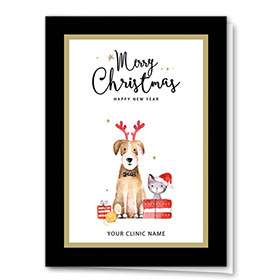 Veterinary Holiday Cards - Bow Tie