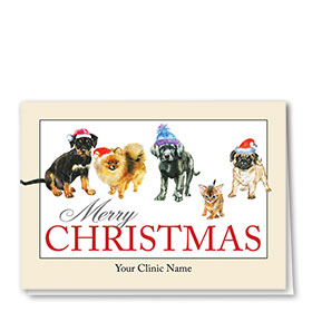 Veterinary Holiday Cards - Winter Pups