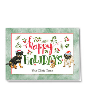 Christmas City Vet.Veterinary Christmas Cards Pet Holiday Cards Sole Source