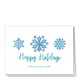 Veterinary Holiday Cards - Watercolor Snow