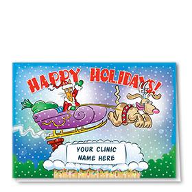 Veterinary Holiday Cards - Santa Cat