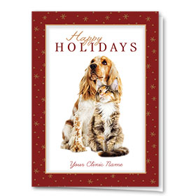 Veterinary Holiday Cards - Burgundy Holiday