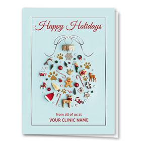 Veterinary Holiday Cards - Tiny Ornaments