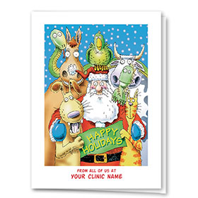 Veterinary Holiday Cards - Happy Helpers