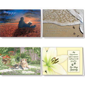 Full-Color Pet Sympathy Cards Assortment Pack - 05