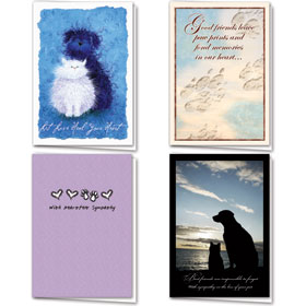 Full-Color Pet Sympathy Cards Assortment Pack - 06