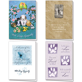 Full-Color Pet Sympathy Card Assortment Pack - 4