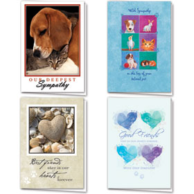 Full-Color Pet Sympathy Cards Assortment Pack - 09