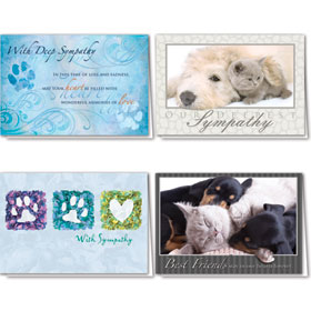 Full-Color Pet Sympathy Cards Assortment Pack - 8