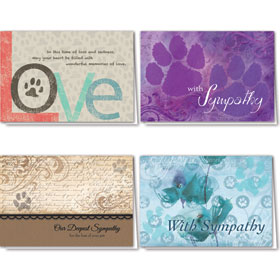Full-Color Pet Sympathy Cards Assortment Pack - 15