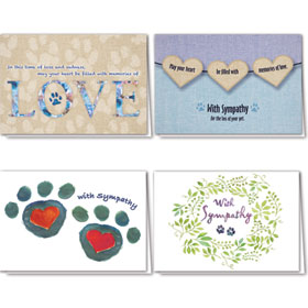 Full-Color Pet Sympathy Cards Assortment Pack - 17