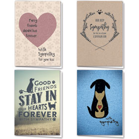 Full-Color Pet Sympathy Cards Assortment Pack - 19