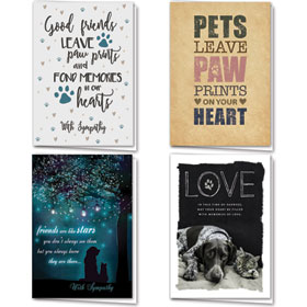 Full-Color Pet Sympathy Cards Assortment Pack - 21