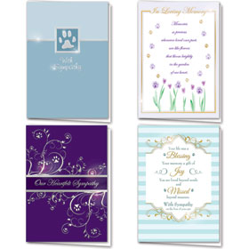 Foil Pet Sympathy Cards Assortment Pack - 04
