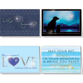 Foil Pet Sympathy Cards Assortment Pack - 14