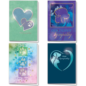 Foil Pet Sympathy Cards Assortment Pack - 18