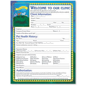Veterinary Welcome Sheet - Banner