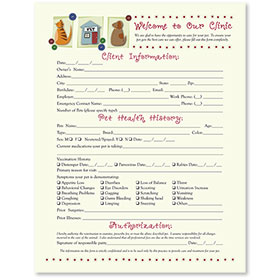 Veterinary Welcome Sheet - Vet