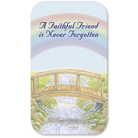 Pet Memorial Cards - Rainbow Bridge