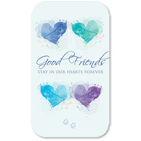 Pet Memorial Cards - Friends Heart