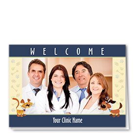 Veterinary Photo Cards - Welcome Friends