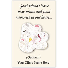 Personalized Plantable Paper Seed Card-Paw