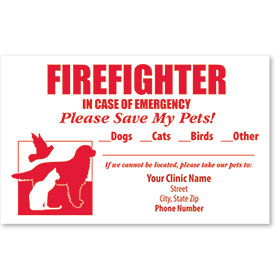 Pet Safety Sticker - Firefighter