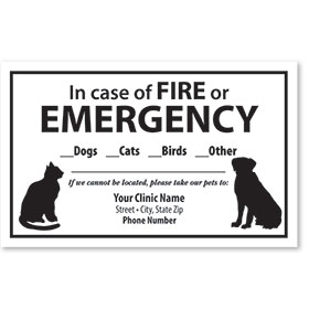 Pet Safety Sticker - Fire or Emergency