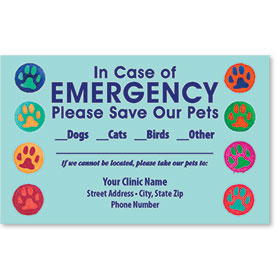 Pet Safety Sticker - Bright Paws