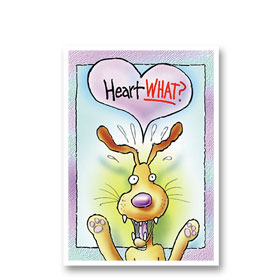 3-Up Veterinary Postcards - Heart What?