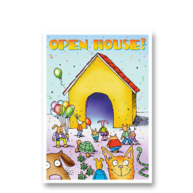 3-Up Veterinary Postcards - Open House