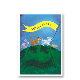 3-Up Veterinary Postcards - Welcome Banner
