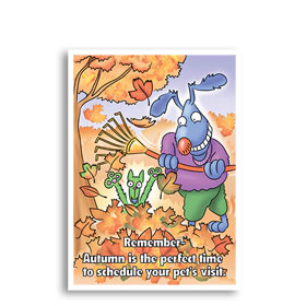 3-Up Veterinary Postcards - Fall Fun