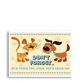 Vet Clinic Reminder Postcards