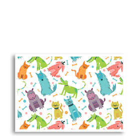 3-Up Veterinary Postcards - Wacky Pets Birthday