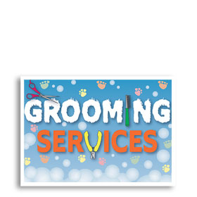 3-Up Veterinary Postcards - Grooming Services