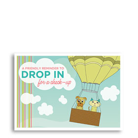 3-Up Veterinary Postcards - Drop In