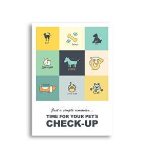 3-Up Veterinary Postcards - Patchwork Pets